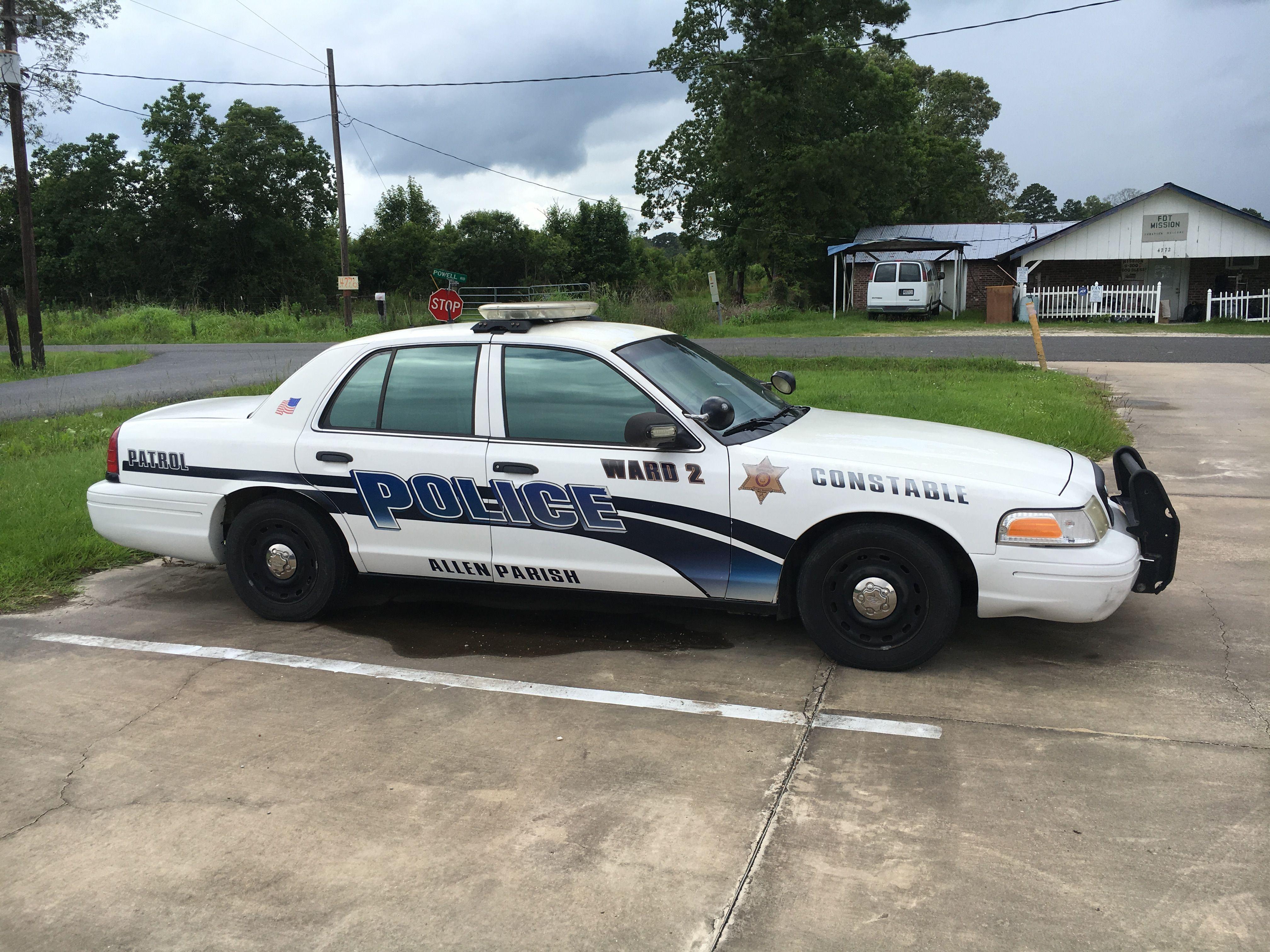 Allan Parish Ward 2 Constable Ford Crown Victoria Louisiana Police Cars Emergency Vehicles Car Cop