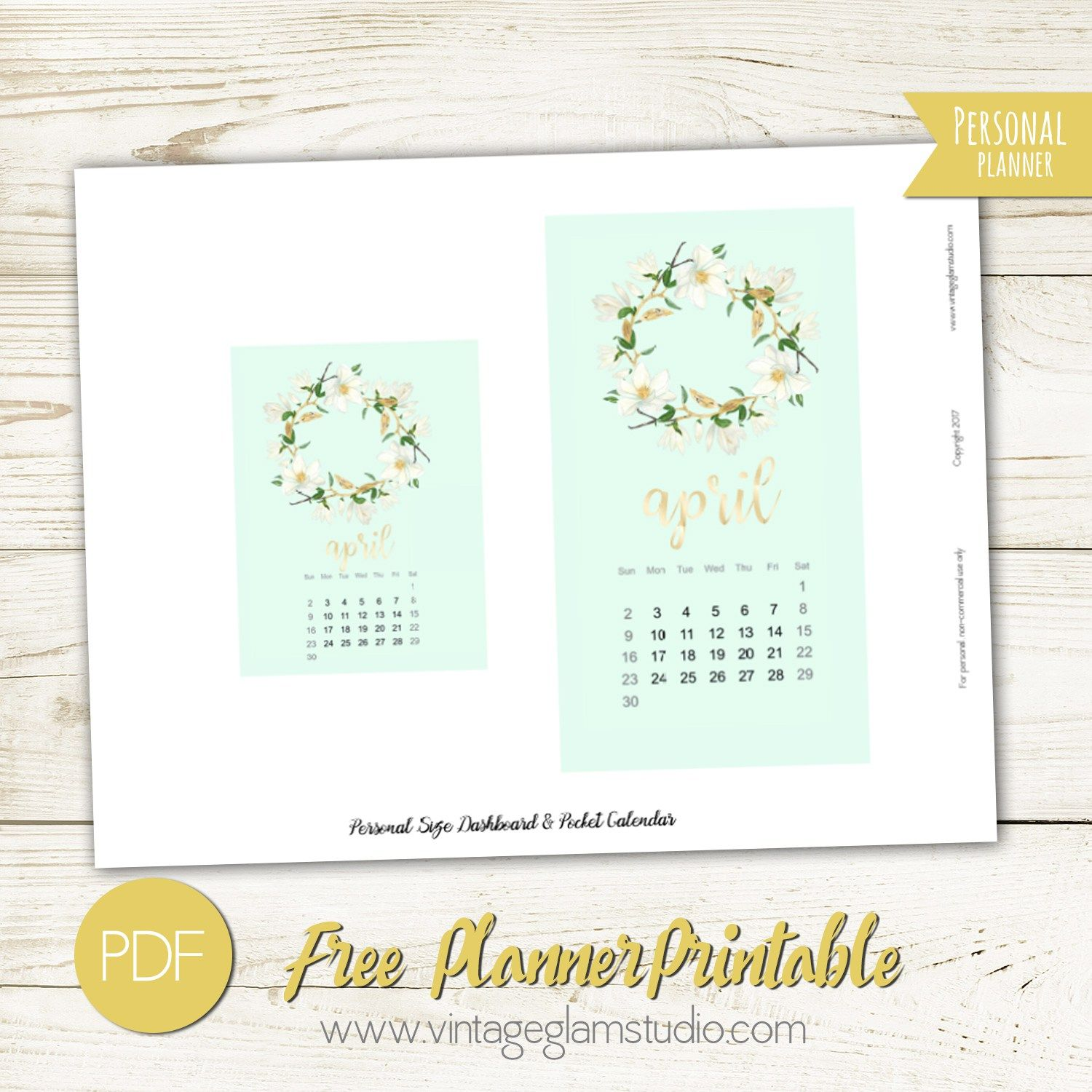 Personal Size Planner Dashboard - Free Printable | INSIDE MY
