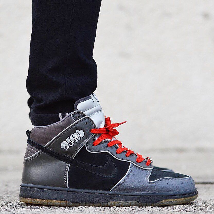 cheap for discount bf6d0 0296a ... MF Doom Black Black Midnight Fog  Nike Dunk High Pro SB . ...