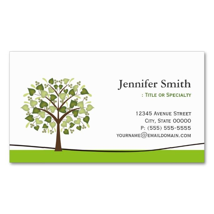 Wishing Tree Of Hearts Appointment DoubleSided Standard - Appointment business card template