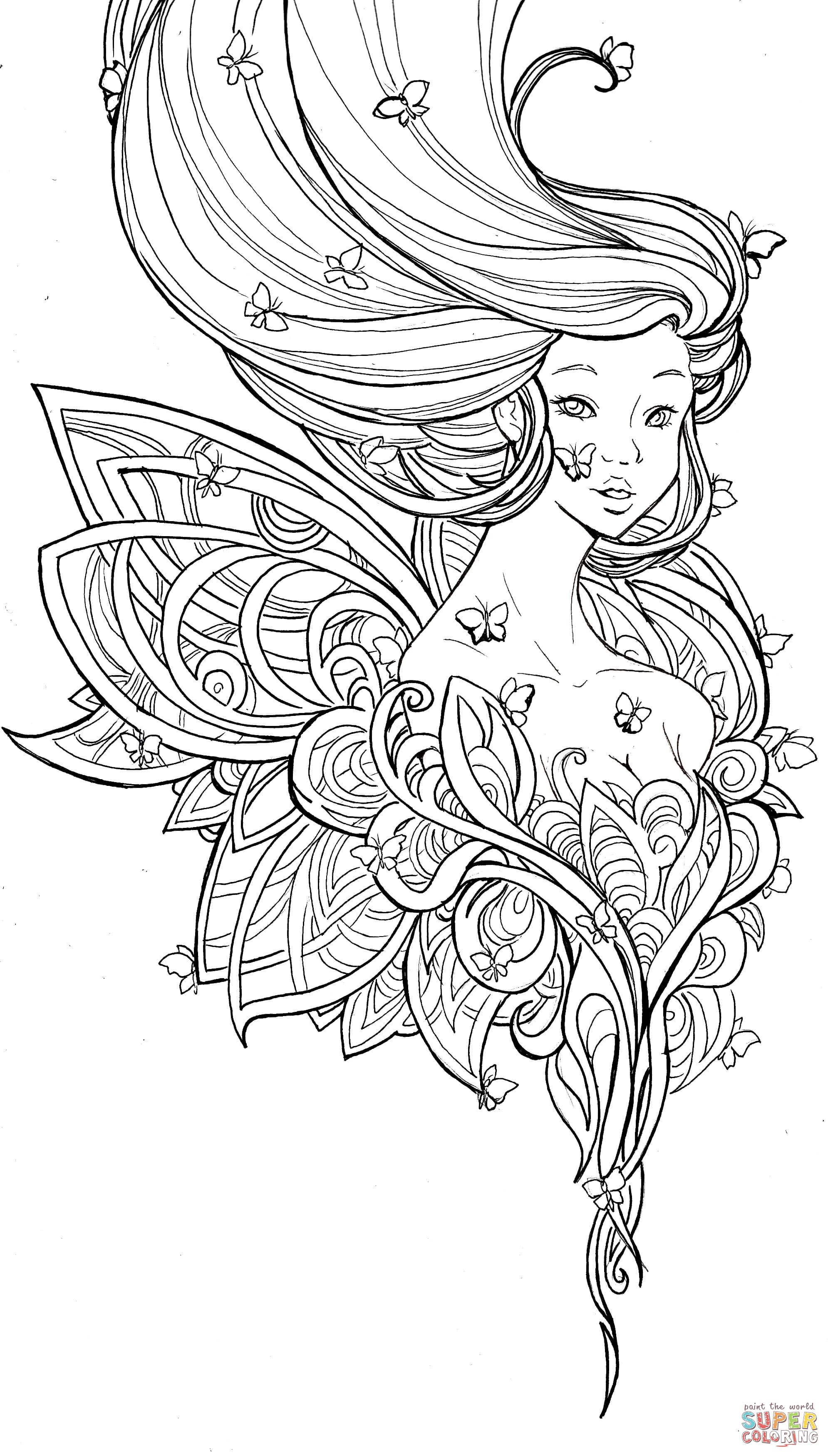 metamorphosis by namtia coloring page from anime girls