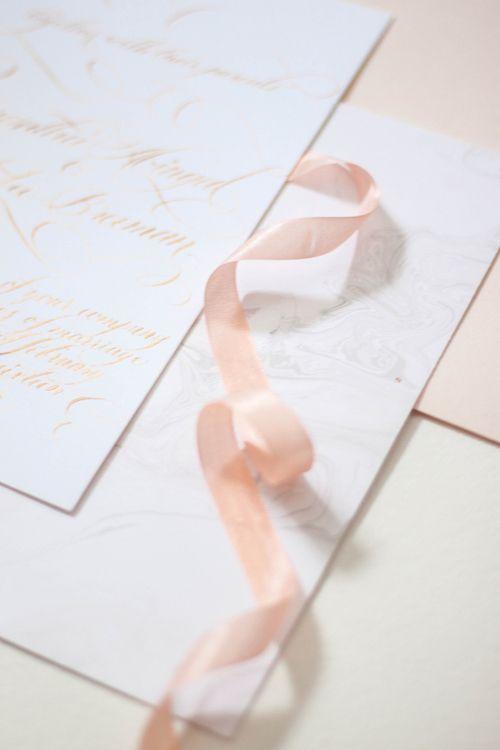Design House Of Moira | Calligraphy Wedding Invitation