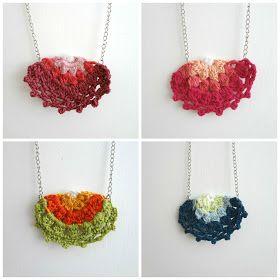 Little Treasures: Half Doily Necklaces