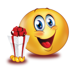 Happy With Gift Div Class Emoji Gifts Funny Emoticons Funny Emoji Faces
