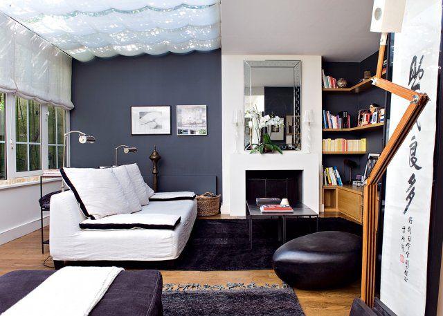 Un salon avec cheminée : nos idées déco | Salon avec cheminée ...