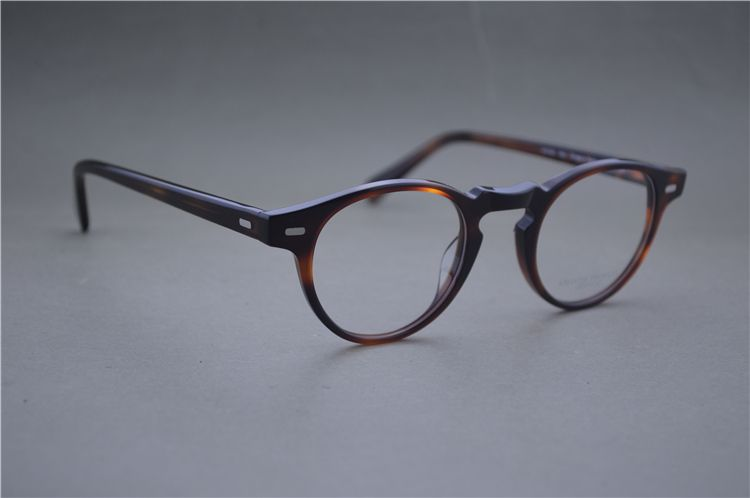 d76e3b359eb Famous Brand Oliver Peoples Eyeglasses Gregory Peck OV 5186 Oval Vintage  Myopia Glasses Frame Men and Women Retro Eye glasses