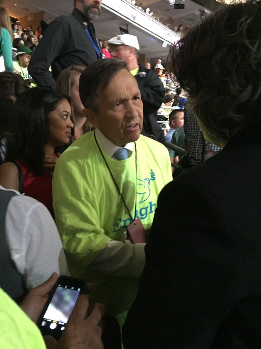 Bernie The Best One! @BernieTheBest1  22m22 minutes ago RT Bencjacobs: Via a source, Dennis Kucinich is now with the Bernie people in Washington wearing a day glow shirt