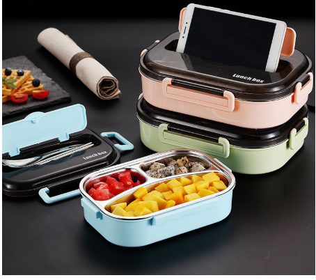 Tableware Microwave Food Container Box Stainless Steel Lunch Box Steel Lunch Box Food Containers Lunch