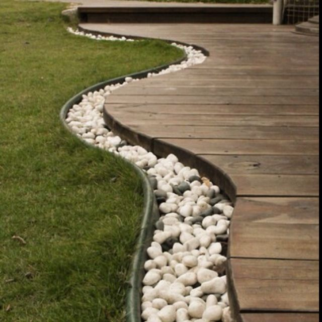 I Like The Flow Of Grass To Rocks To Deck