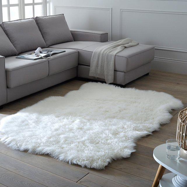 tapis effet peau de mouton livio 135 x 190 cm - Tapis Peau De Mouton