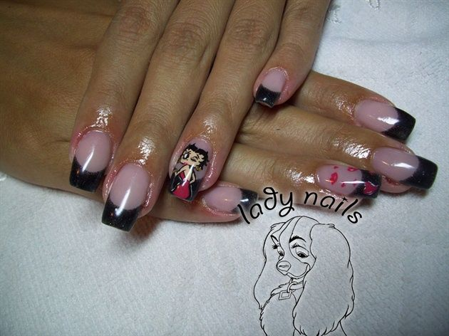 Betty Boop Nail Art Gallery By Nails Magazine Pop Culture Nail