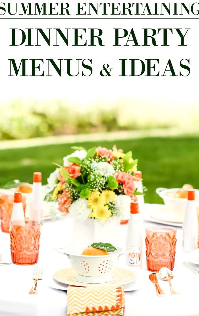 how to plan a menu for a dinner party