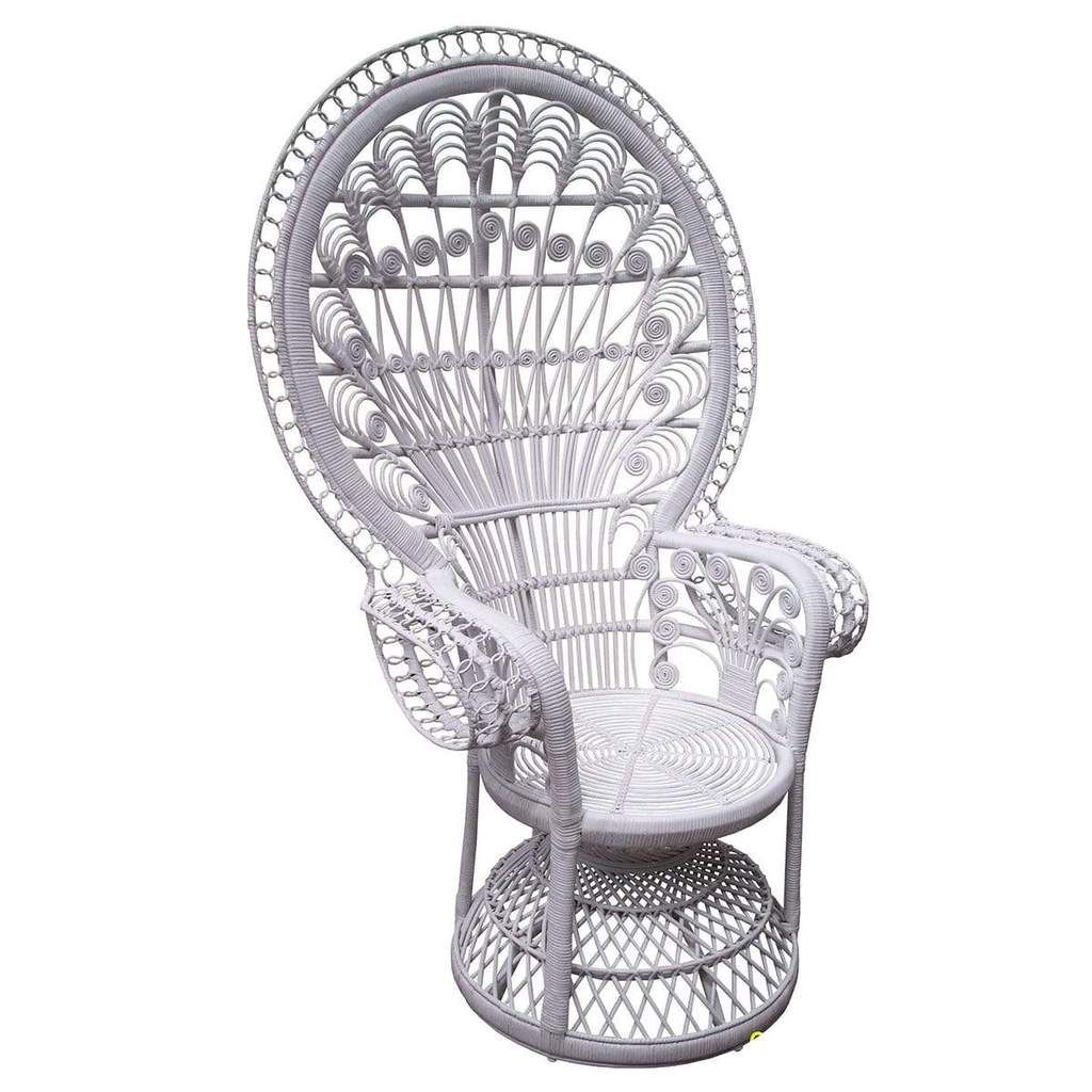 White Peacock Chair Peacock Chair