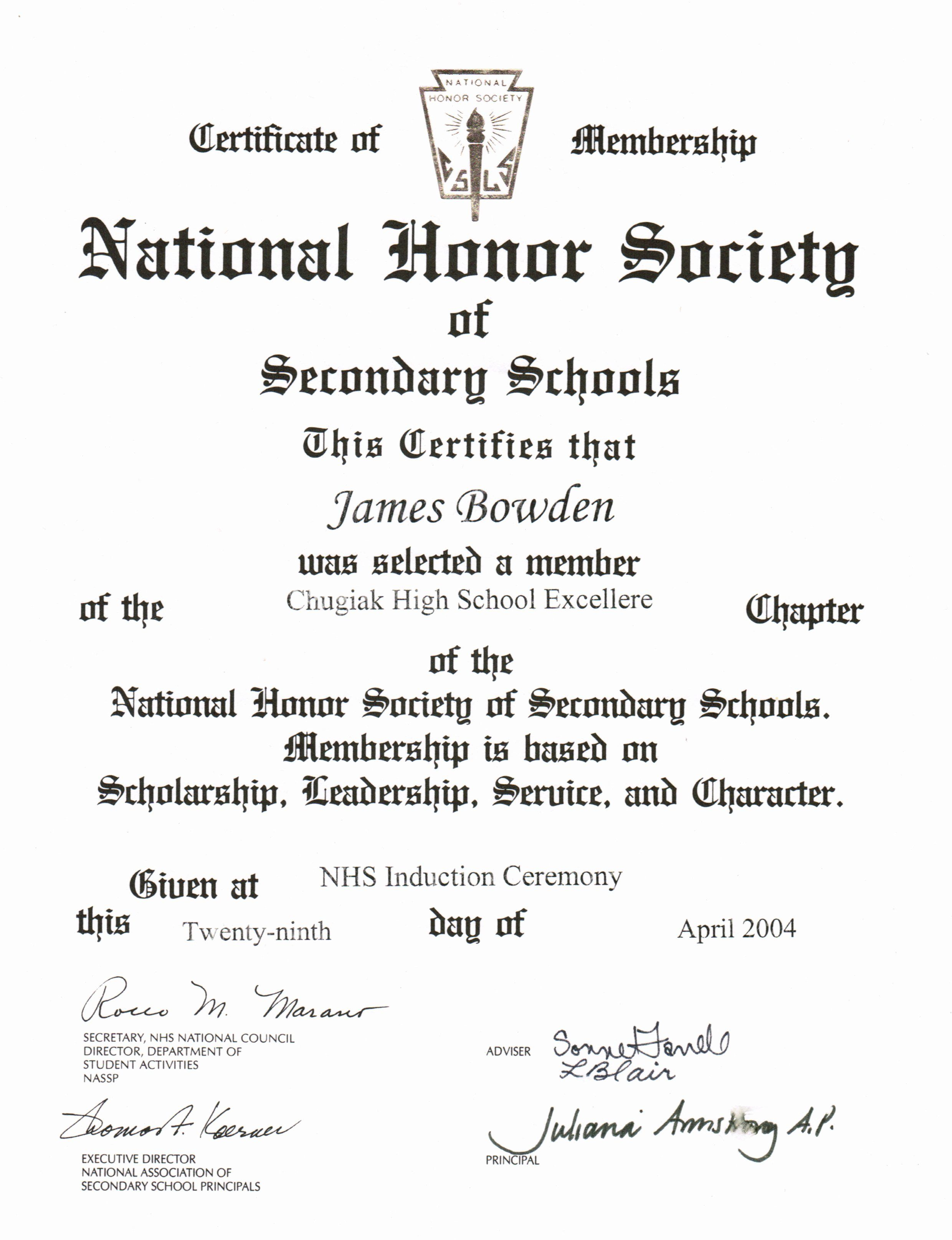 National honor society description resume awesome 4 awards