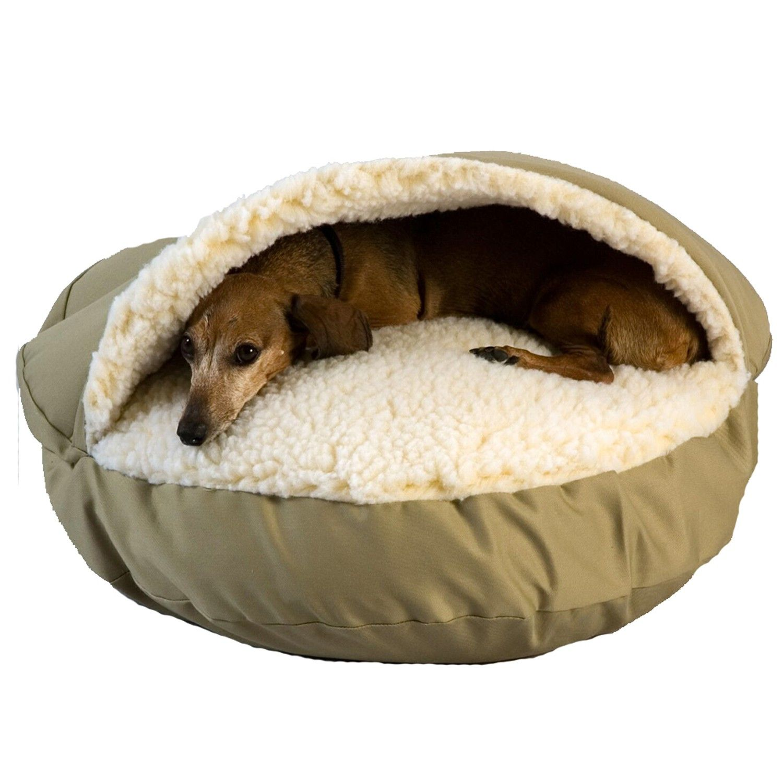 Snoozer Orthopedic Cozy Cave Pet Bed XL, Khaki Cozy cave