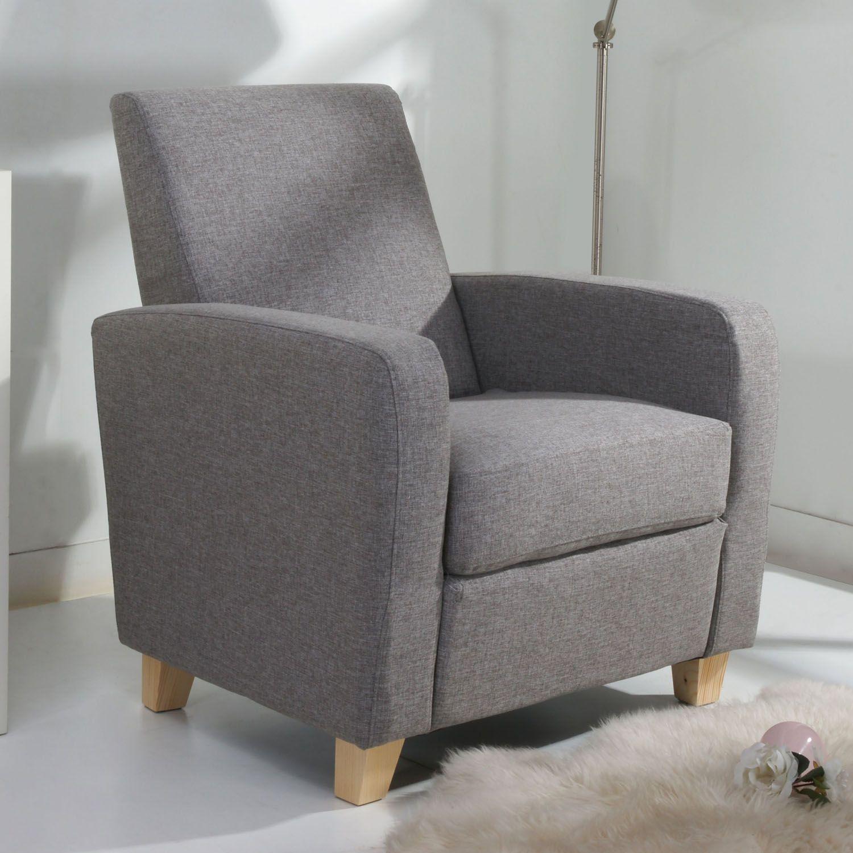 Beautiful Lennon Peppered Grey Fabric Armchair £149.99