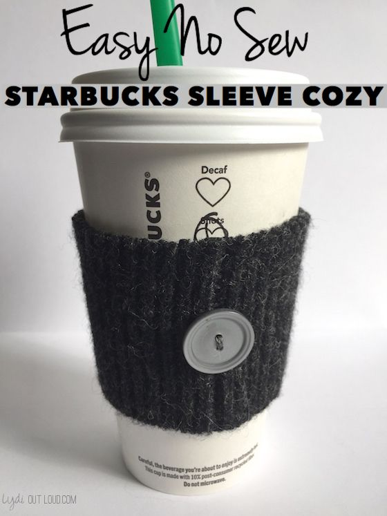 Starbucks sleeve, save the environment and skip the cardboard ones!