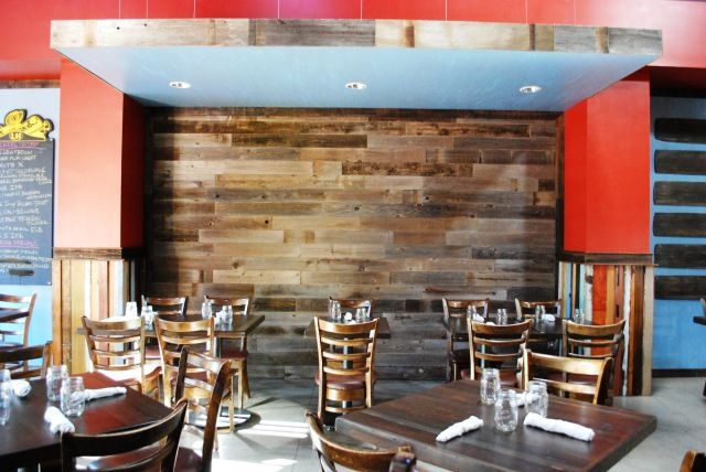 Rustic Restaurant Decor Ideas Nice Contrast Between Wood And