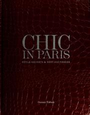 Cover of: Chic in Paris by Susan Tabak