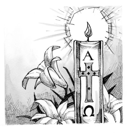 Signs And Symbols Paschal Candle Saint Mary S Press Easter