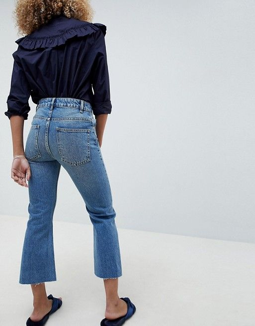 DESIGN Egerton rigid cropped flare jeans in vintage mid wash - Vintage mid wash Asos Buy Cheap Exclusive u5pbRFk