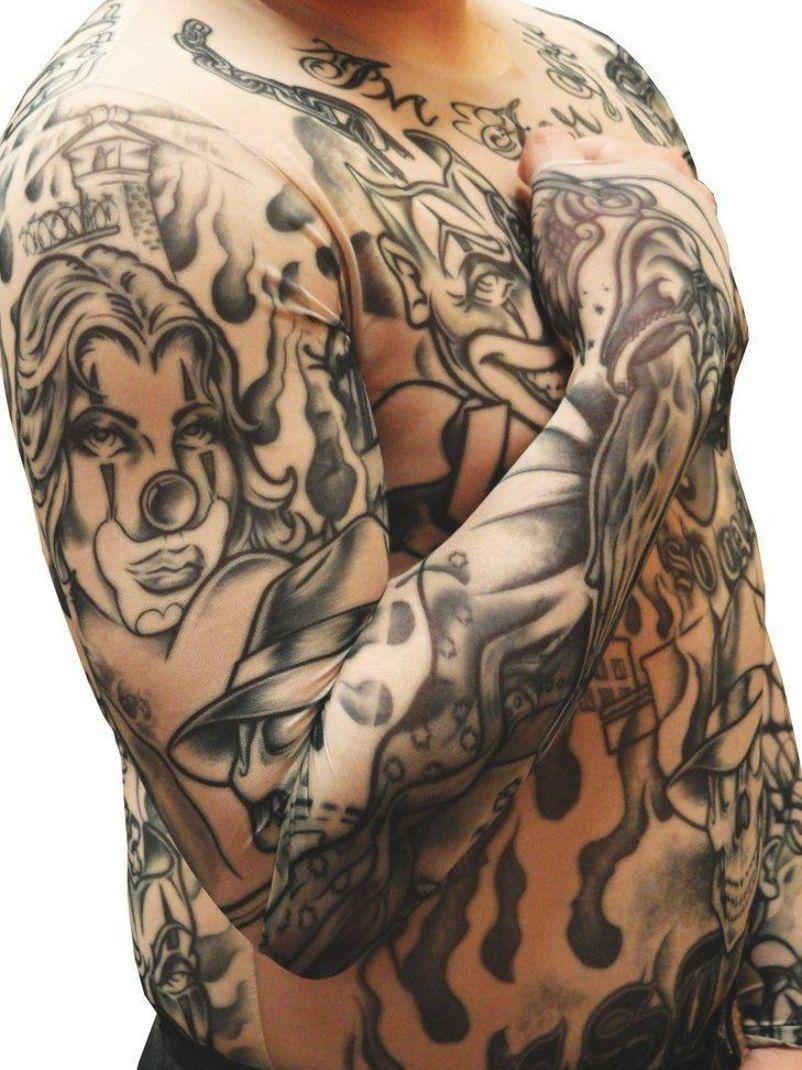 Men's Full Body Tattoo Shirt - Prison Ink Full Body Tattoo Shirt