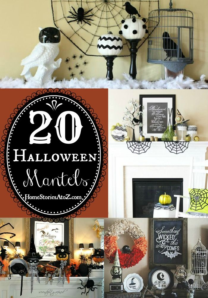20 Halloween Mantels Mantels, Decorating and Inspiration