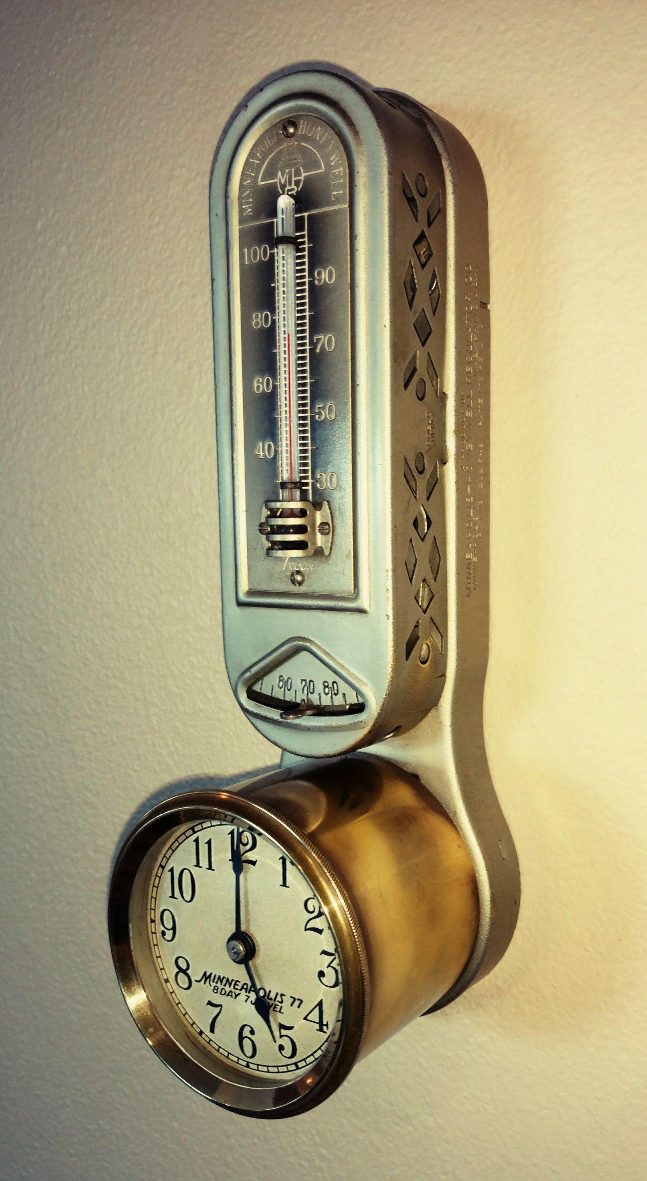 1924 Minneapolis Honeywell Thermostat Antiques Rare
