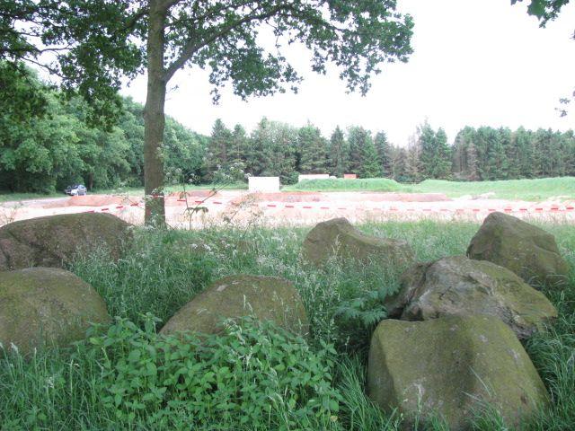 Hunebed  dolmen Valthe Drenthe The Netherlands.