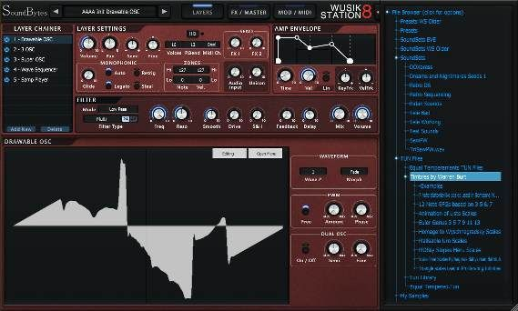 Soundbytes Wusik Station 8 Free Virtual Instrument Rompler From