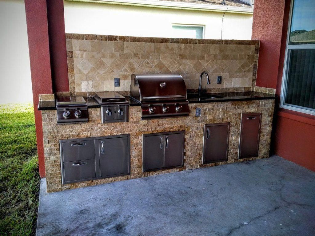 Outdoor Kitchen Backsplash Kitchen Decor Design Idea Backsplash Tile