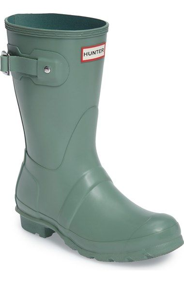 818abebbc Hunter 'Original Short' Rain Boot in Succulent Green | wish list ...