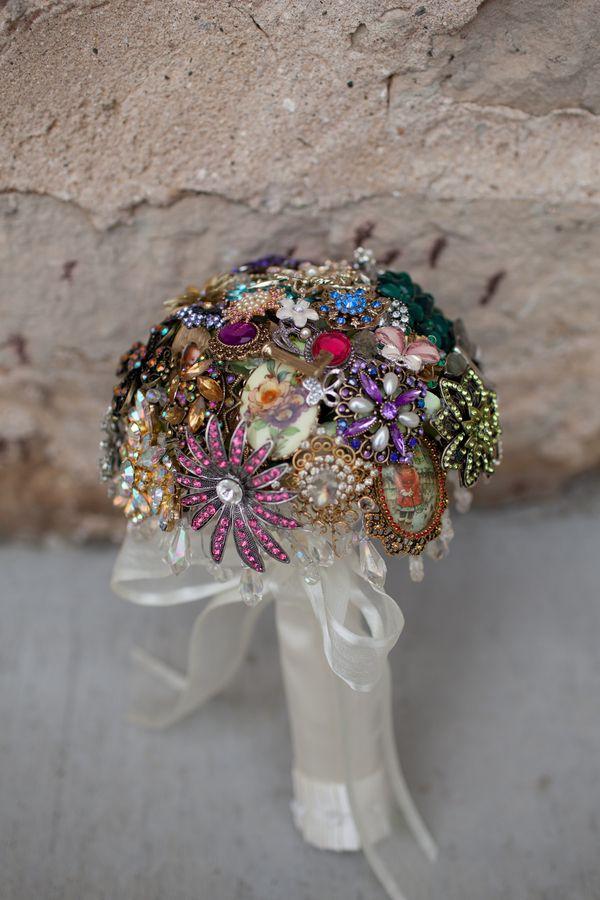 Vintage Broach Wedding Bouquet