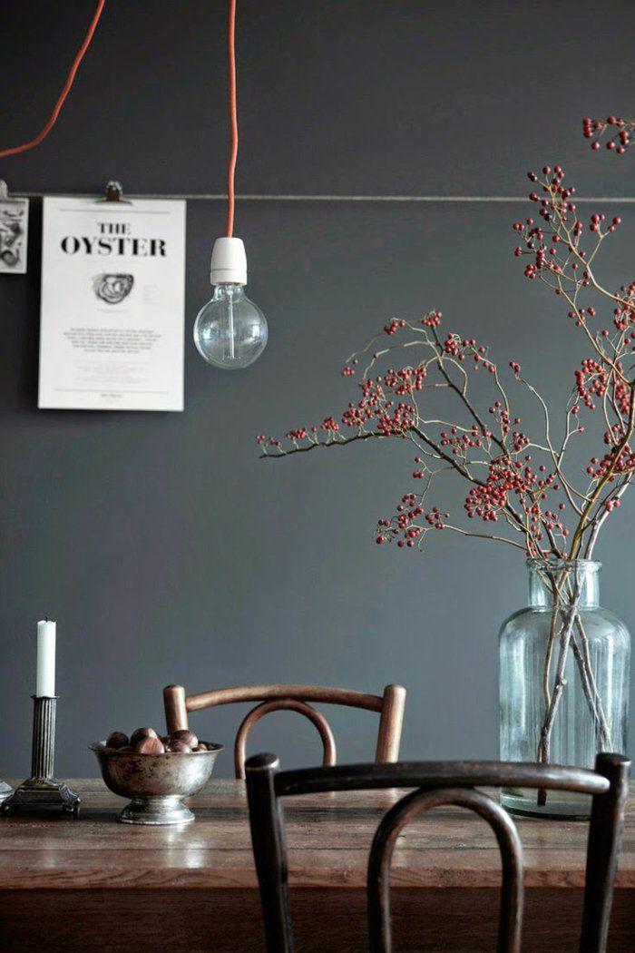 Trendfarben im esszimmer design wohndesign - Dunkelgrau wandfarbe ...