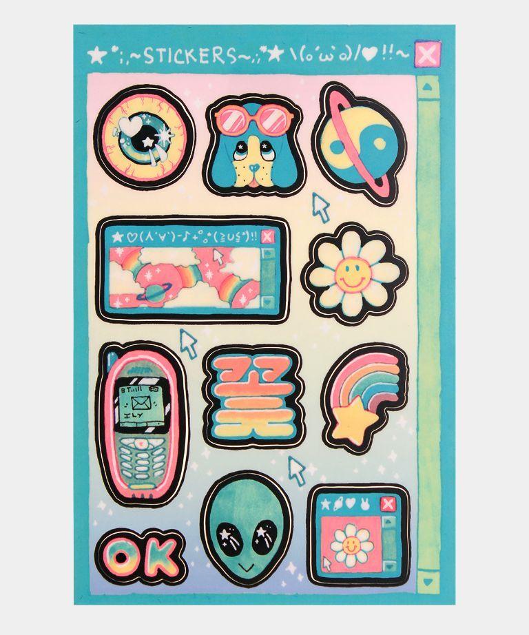 MILKBBI sticker sheet