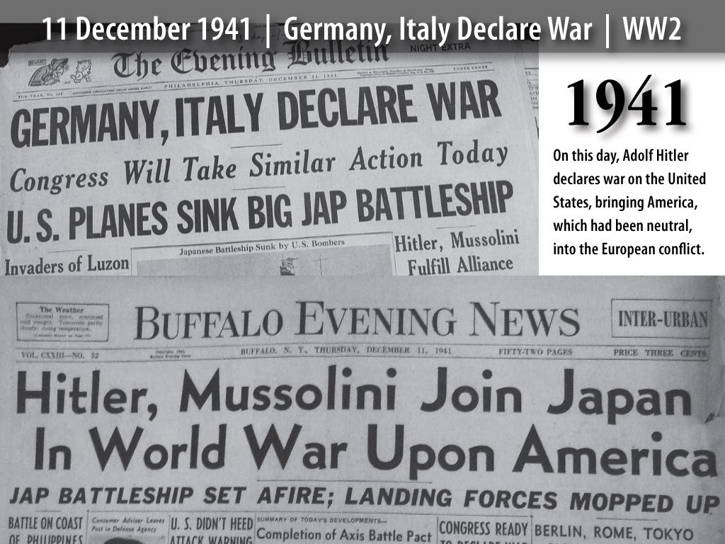 11dec1941germanyitalydeclare Jpg 1024 768 War Germany Germany And Italy