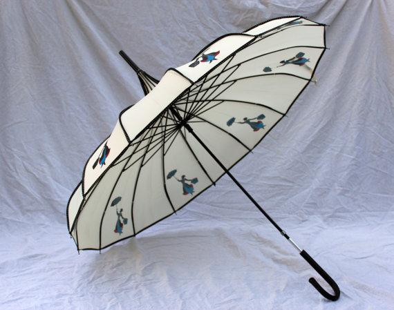 Mary Poppins Silhouette Umbrellaparasol Schirme Umbrella