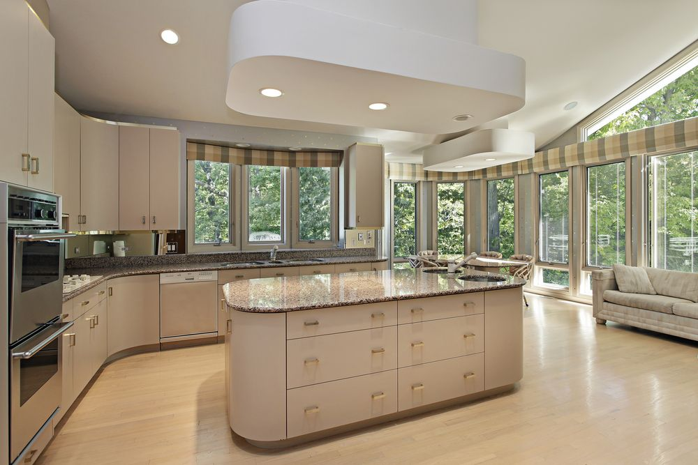 Eclectic mix of 42 custom kitchen designs island kitchen for Large kitchen designs