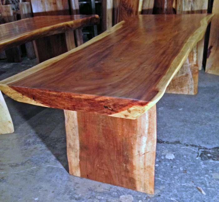 Nice Live / Natural Edge Dining Table W/ Steel Trestle Impact Imports Of Boise U0026  Philadelphia