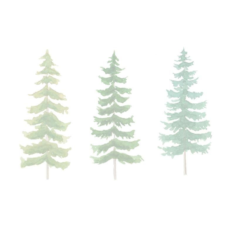 Watercolor Pine Tree Clipart Instant Downloadtree Clipart Etsy Tree Illustration Tree Painting Tree Clipart