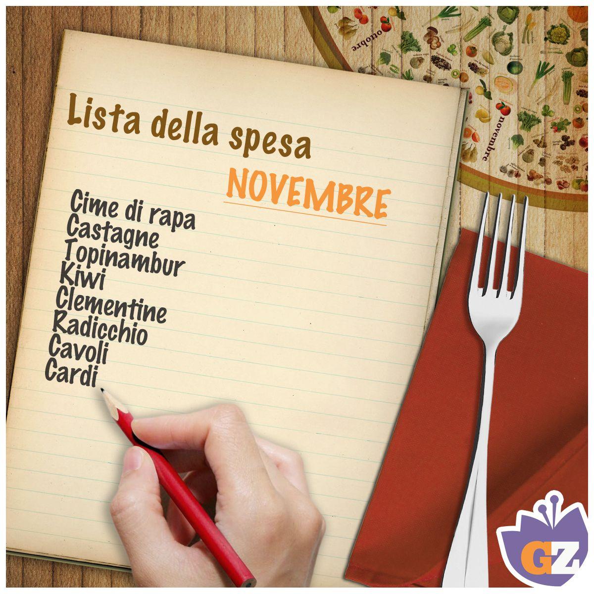 #Novembre e i suoi ingredienti! #GialloZafferano #listadellaspesa