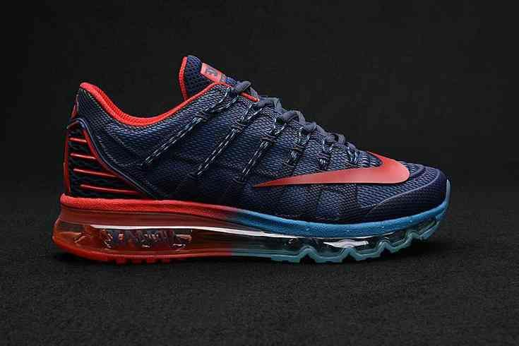 sports shoes 5a7b4 c410d Latest Nike Air Max 2016 II Sneakers Nano TPU Material Deep Blue Red Mens…