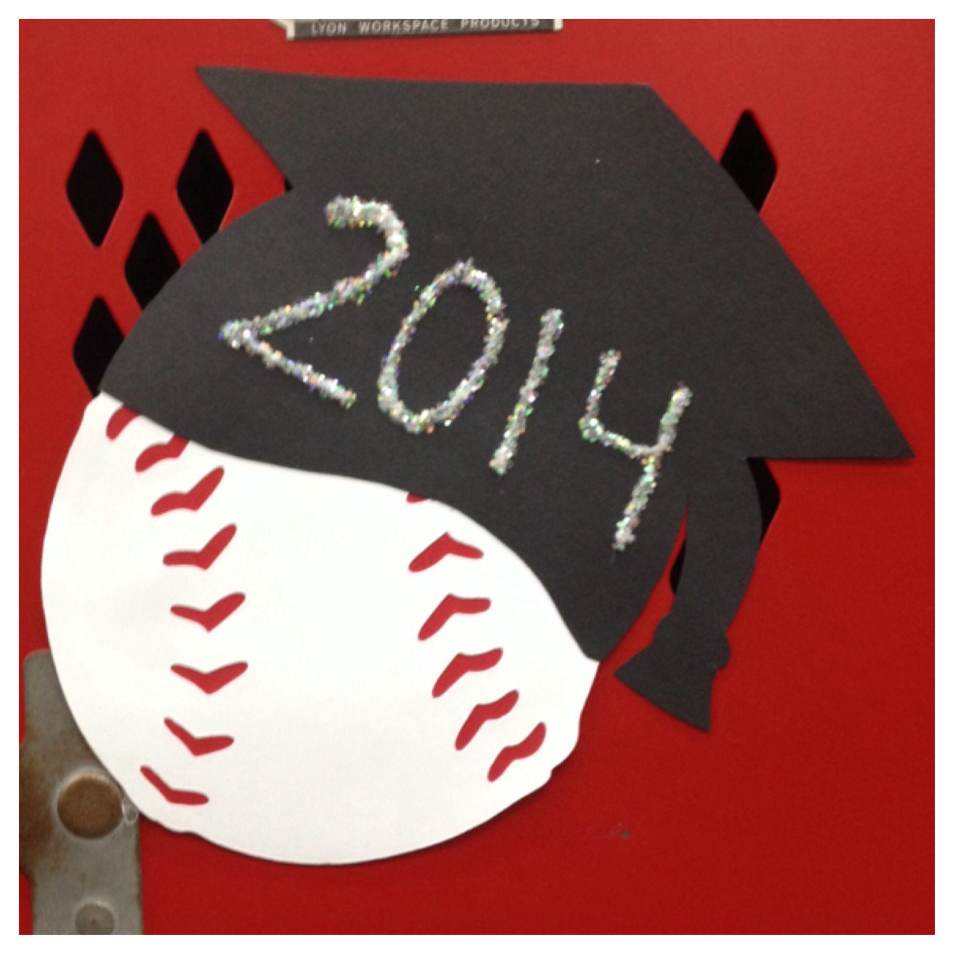 Senior Baseball Locker Decorations In Honor Of The Last Home Game Season And