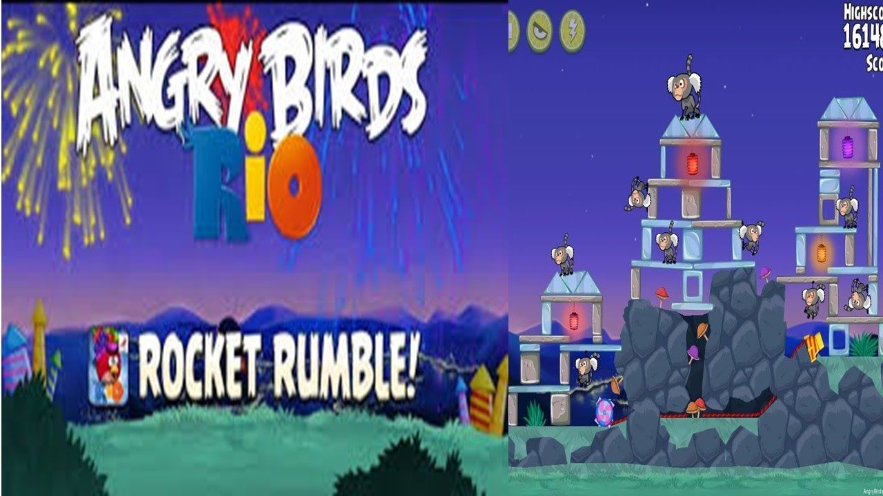 Angry Bird Angry Bird Game Review Of Rocket Rumble Stage 4