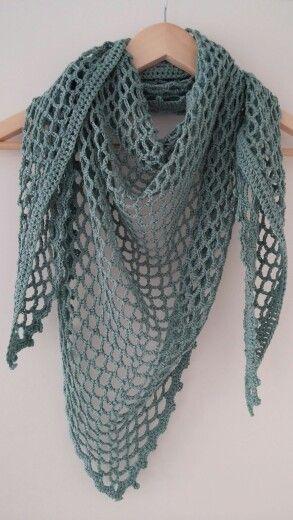 Beroemd Omslagdoek, patroon uit boek Haken en kleur   hekl - Crochet Shawl #UZ73