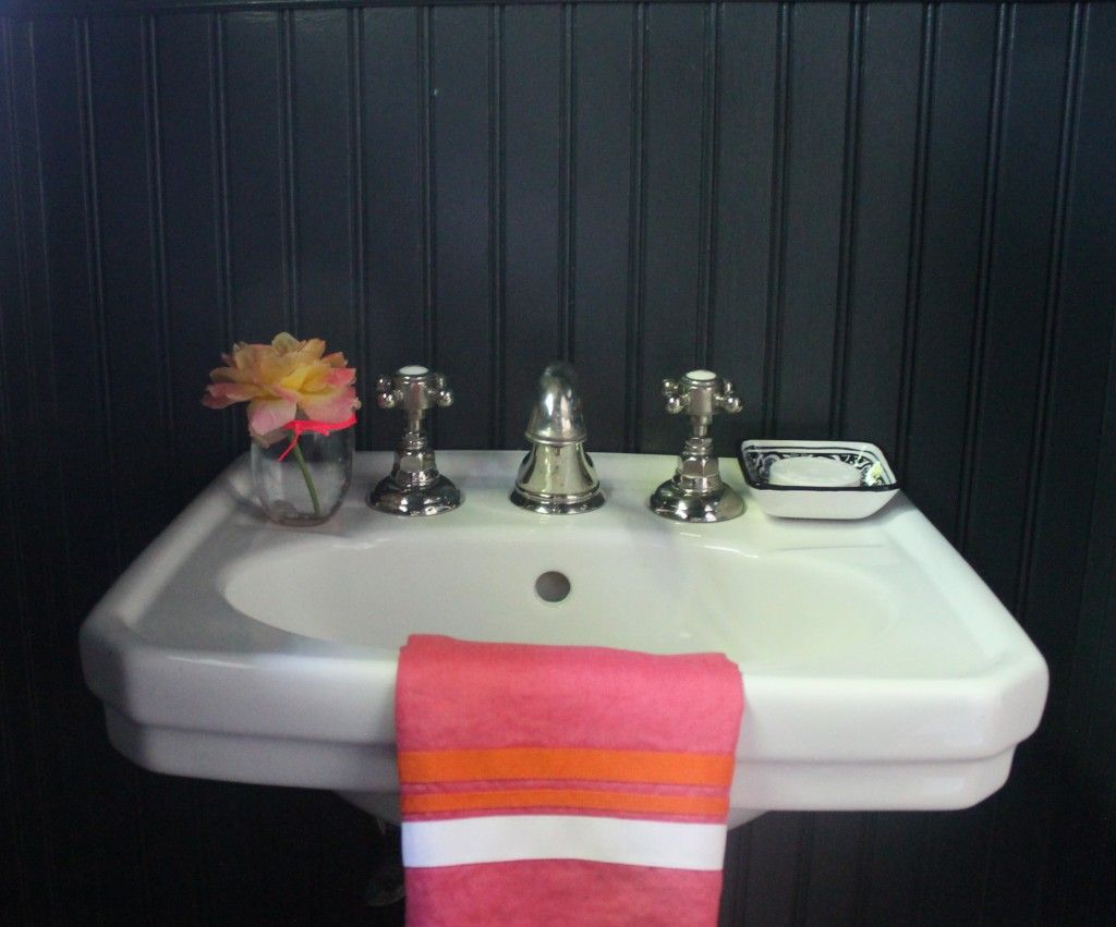 faucet by Waterworks, towel from Pottery Barn, paint color from ...