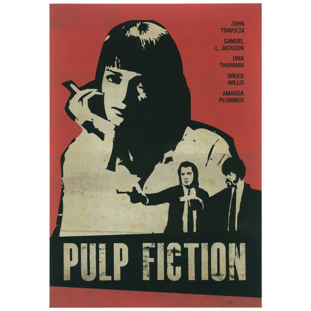 Vintage Inspired Movie Posters Of Recent Movies Django Unchained Fight Club Pulp Fiction Im Sorry But These Are An Absolute Must Have