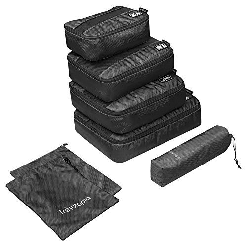 6pieces Packing Cubes Trsutopia Mobutler Waterproof Travel