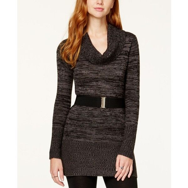 Bcx Juniors' Marled Cowl-Neck Sweater Dress ($42) ❤ liked on ...