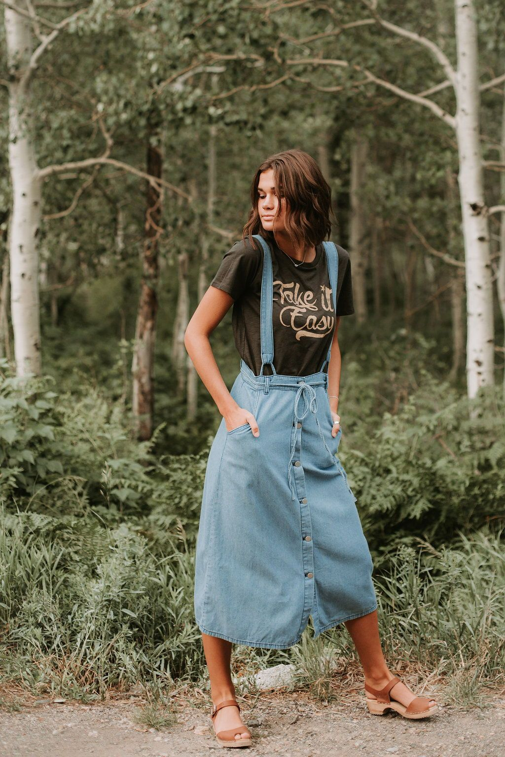 The carlock denim overall dress in clothes pinterest